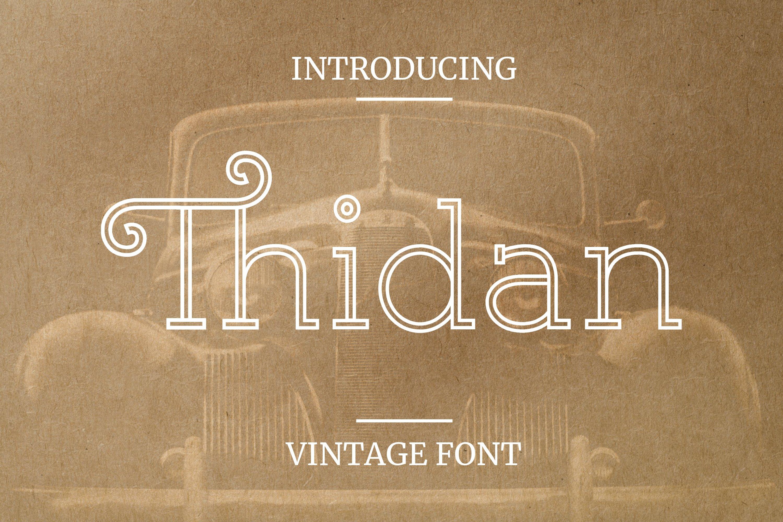 Thidan Font example image 1