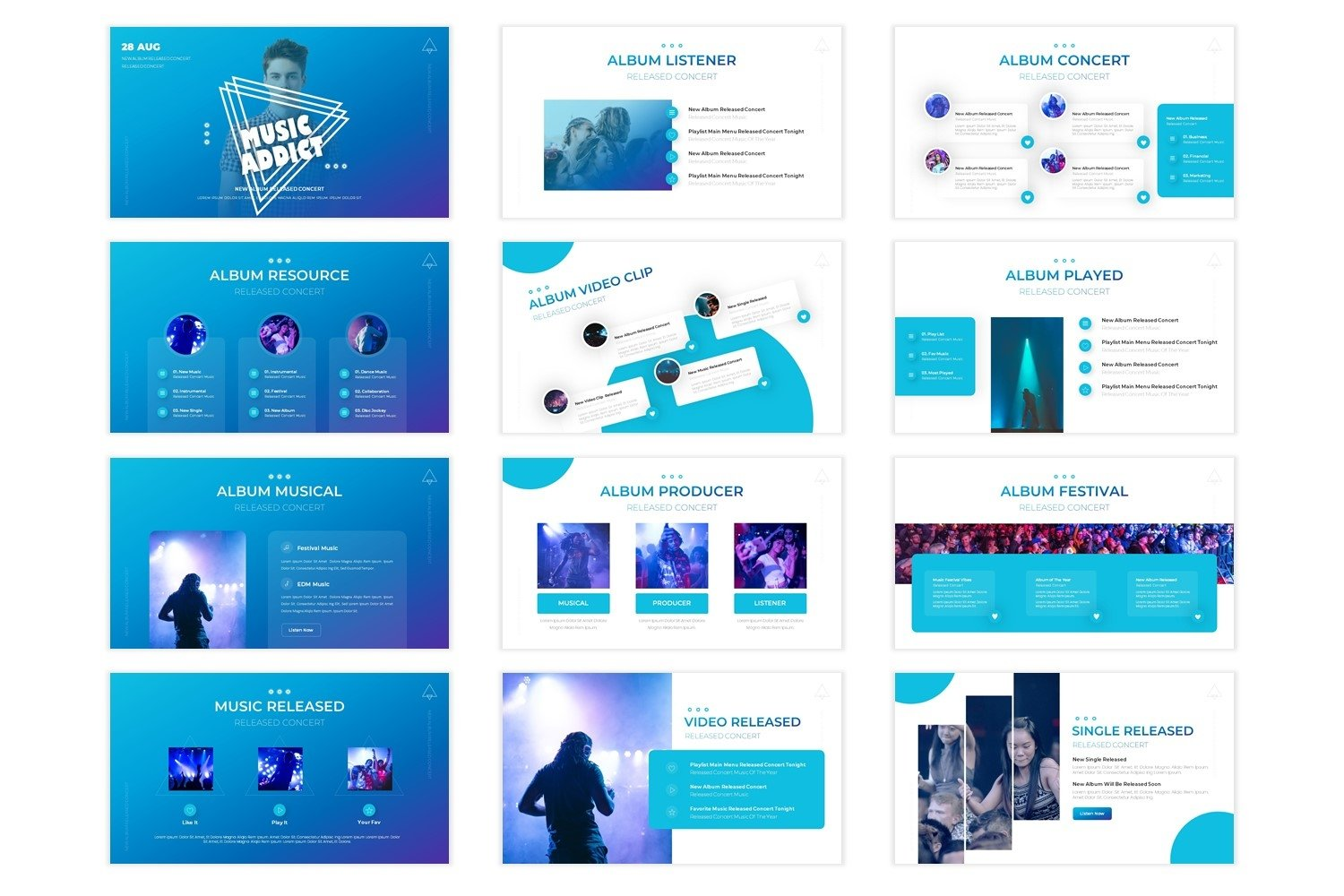 Music Addict - Powerpoint Template example image 2