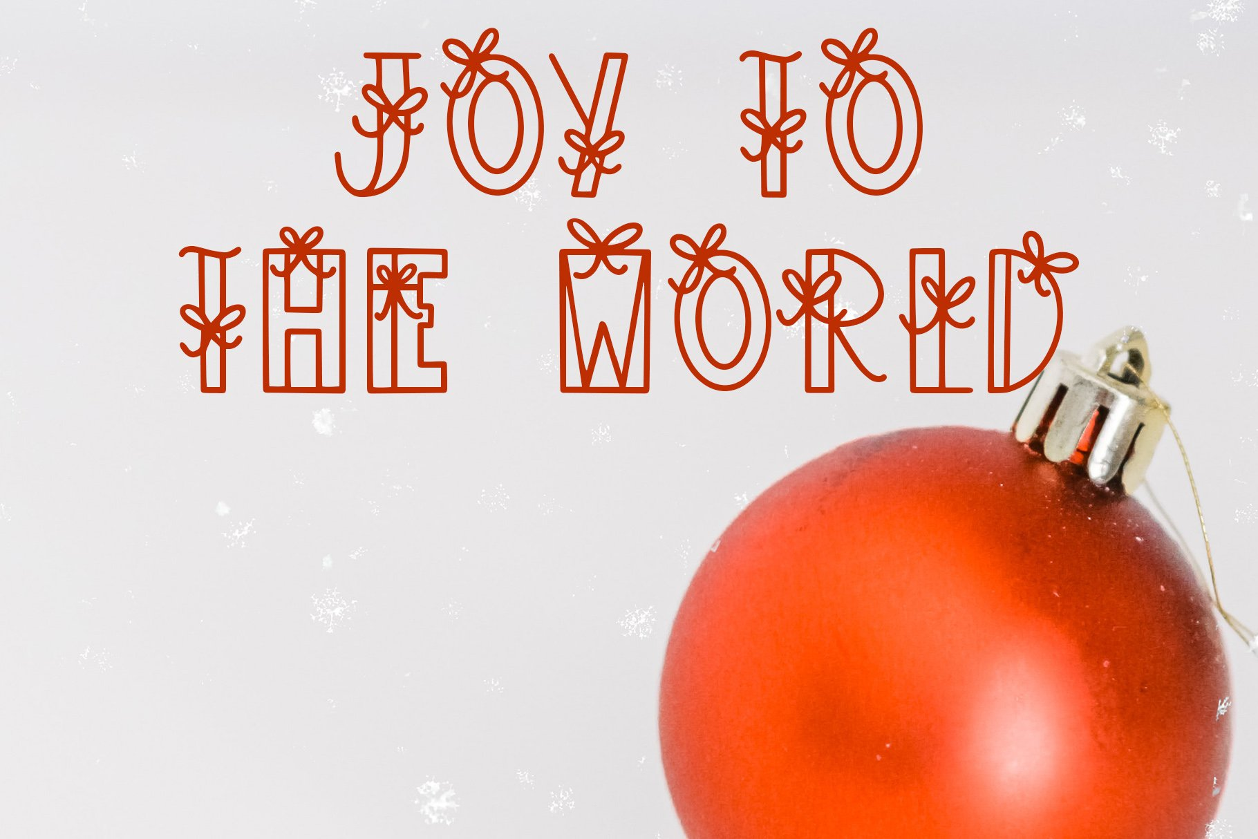 Under The Tree, Christmas Present Font example image 3