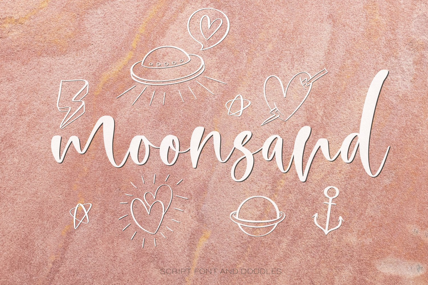 Moonsand Script Font & Doodles example image 1
