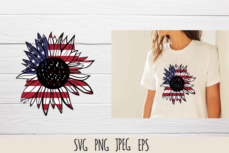 Patriotic sunflower SVG cut file bundle example image 8
