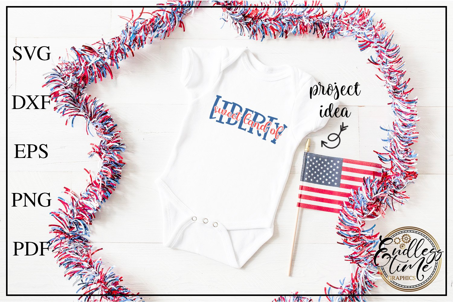 4th of July Bundle Volume 3 | A Red White & Blue SVG Bundle example image 7