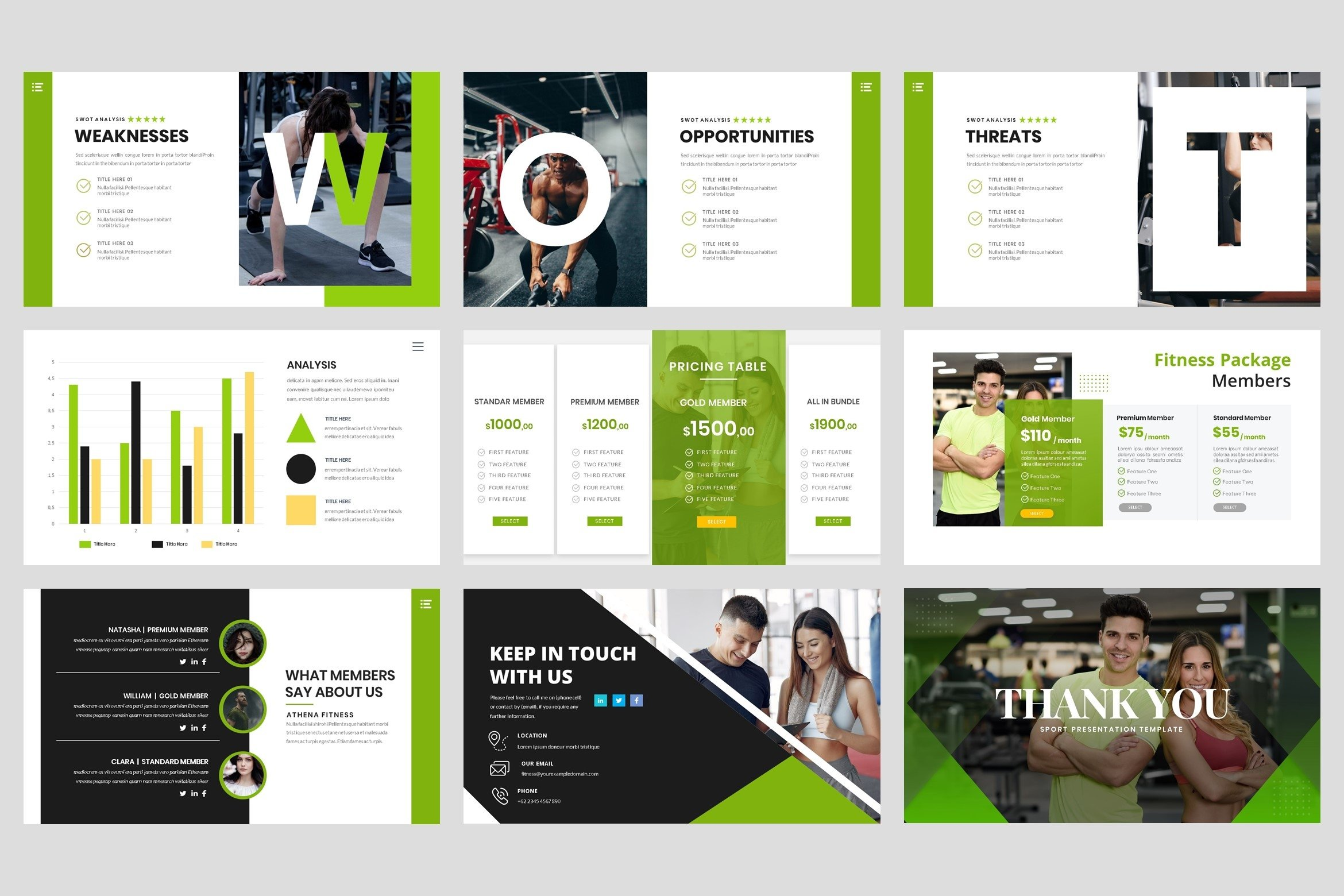 Sport - Fitness Business Workout PowerPoint Template example image 3