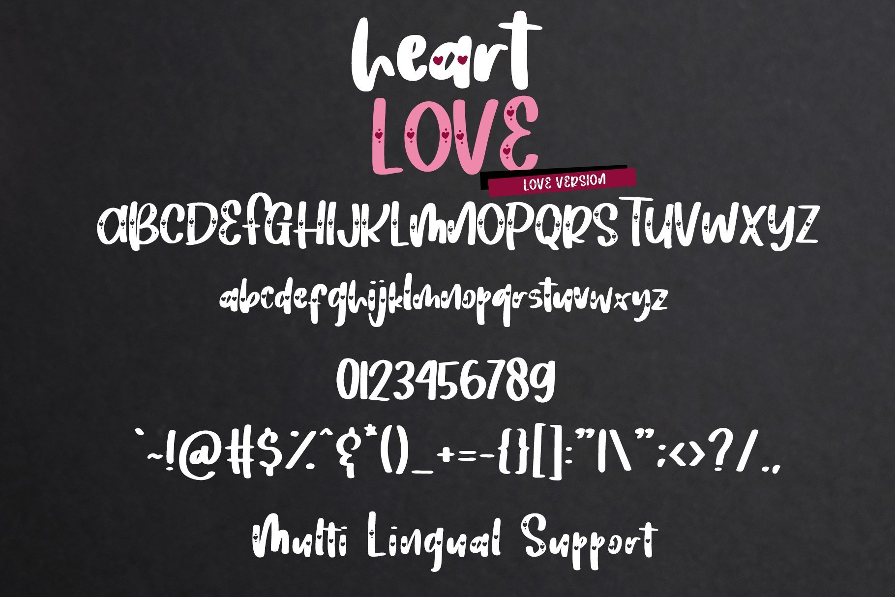 Heart Love - Crafty Lovely Font Duo example image 10