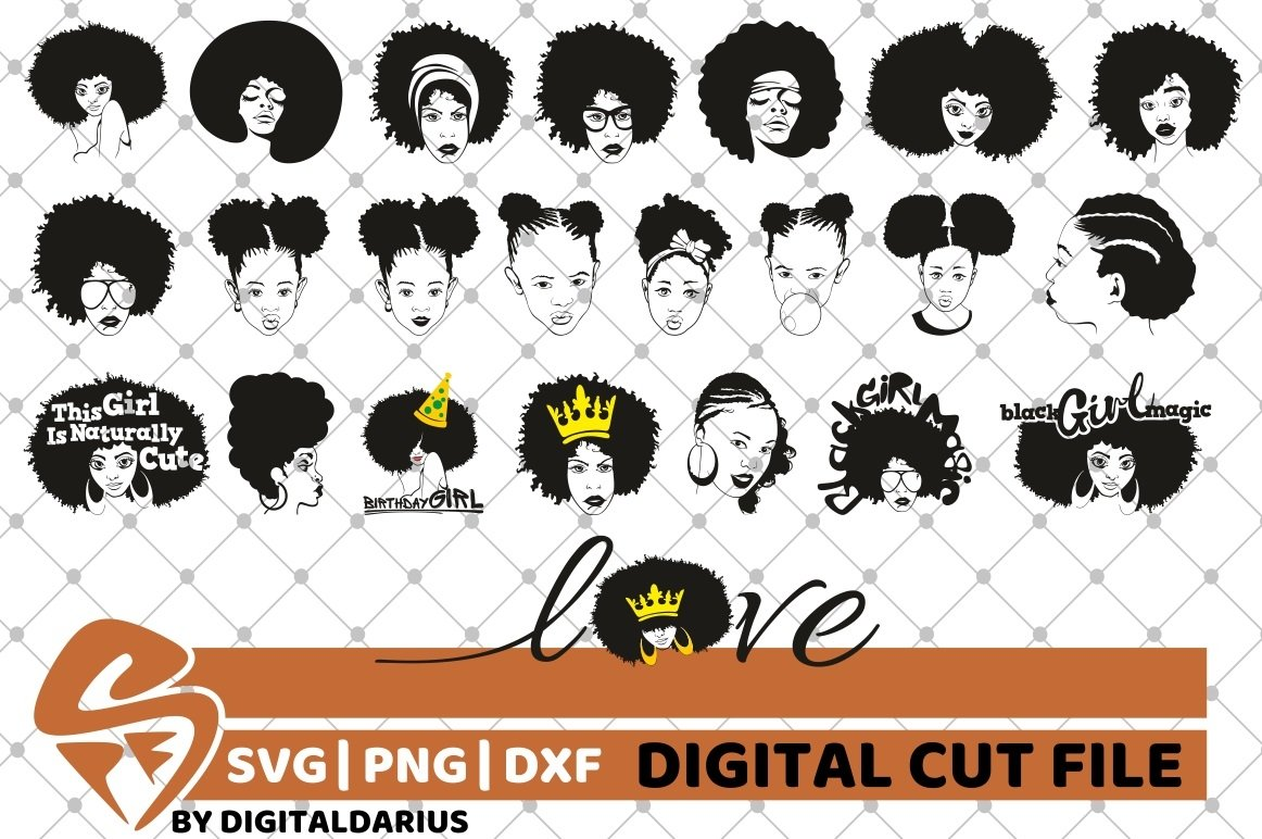 107x Black Woman Designs Bundle SVG, Black Queen, Melanin example image 14