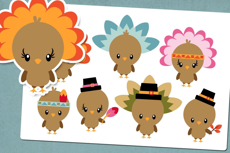 Thanksgiving Turkey Illustrations Clip Art example image 1