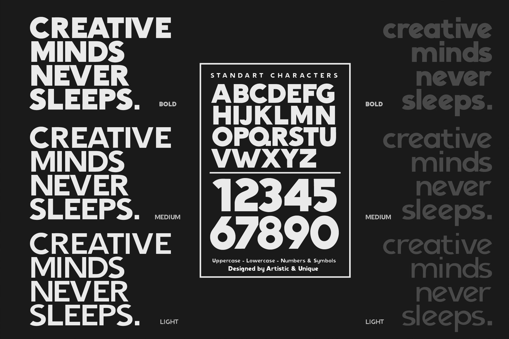 Nigrum - Sans Serif font Family example image 3