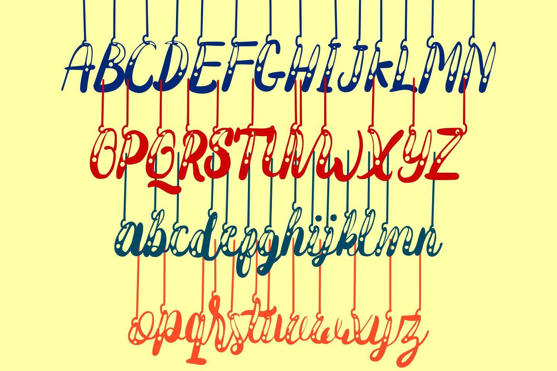 Hanging Darling Decorative Holiday Font example image 9