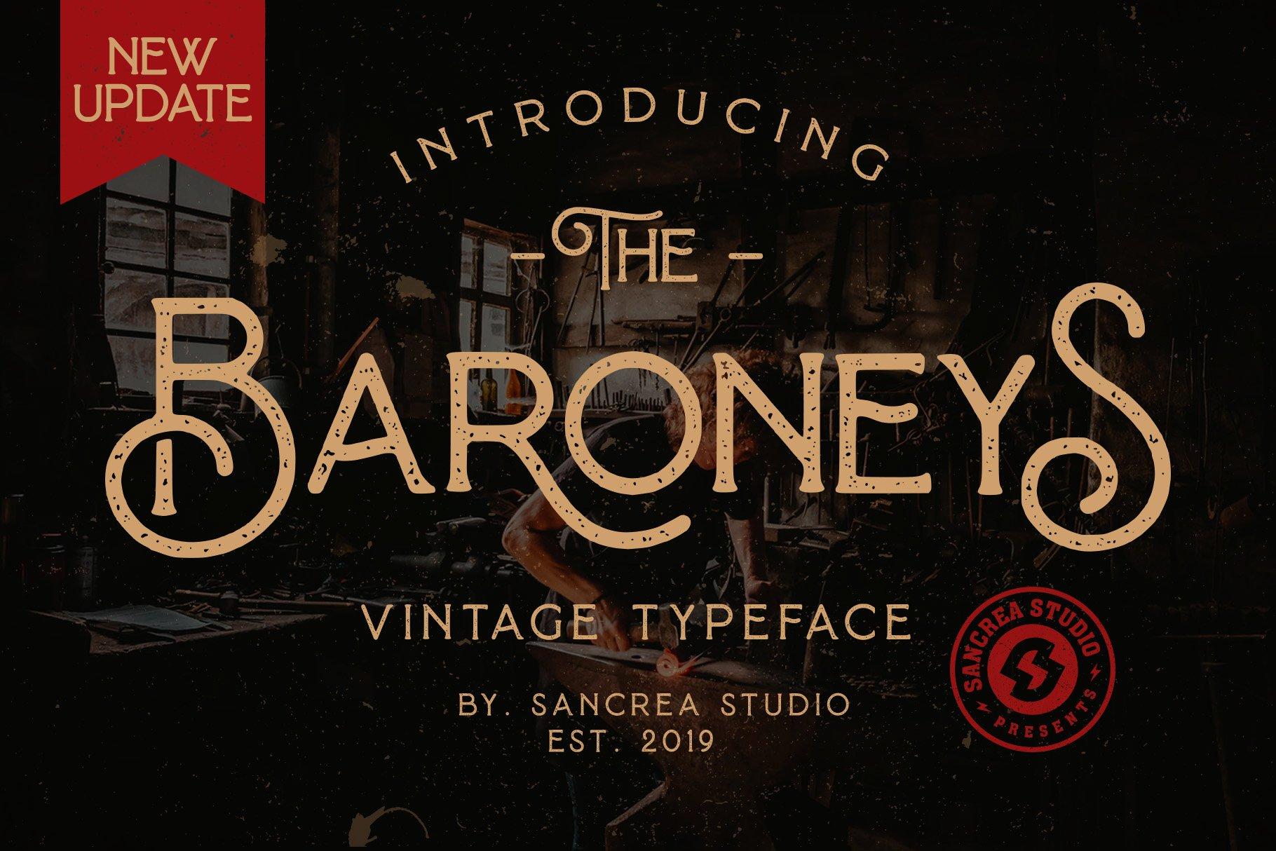 Baroneys - Vintage Typeface example image 1