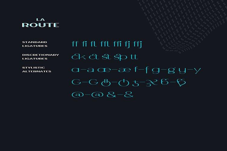 La Route Typeface example image 3