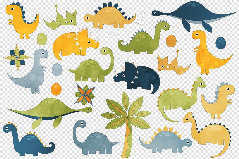 Cute Dinosaurs Clip Art example image 2