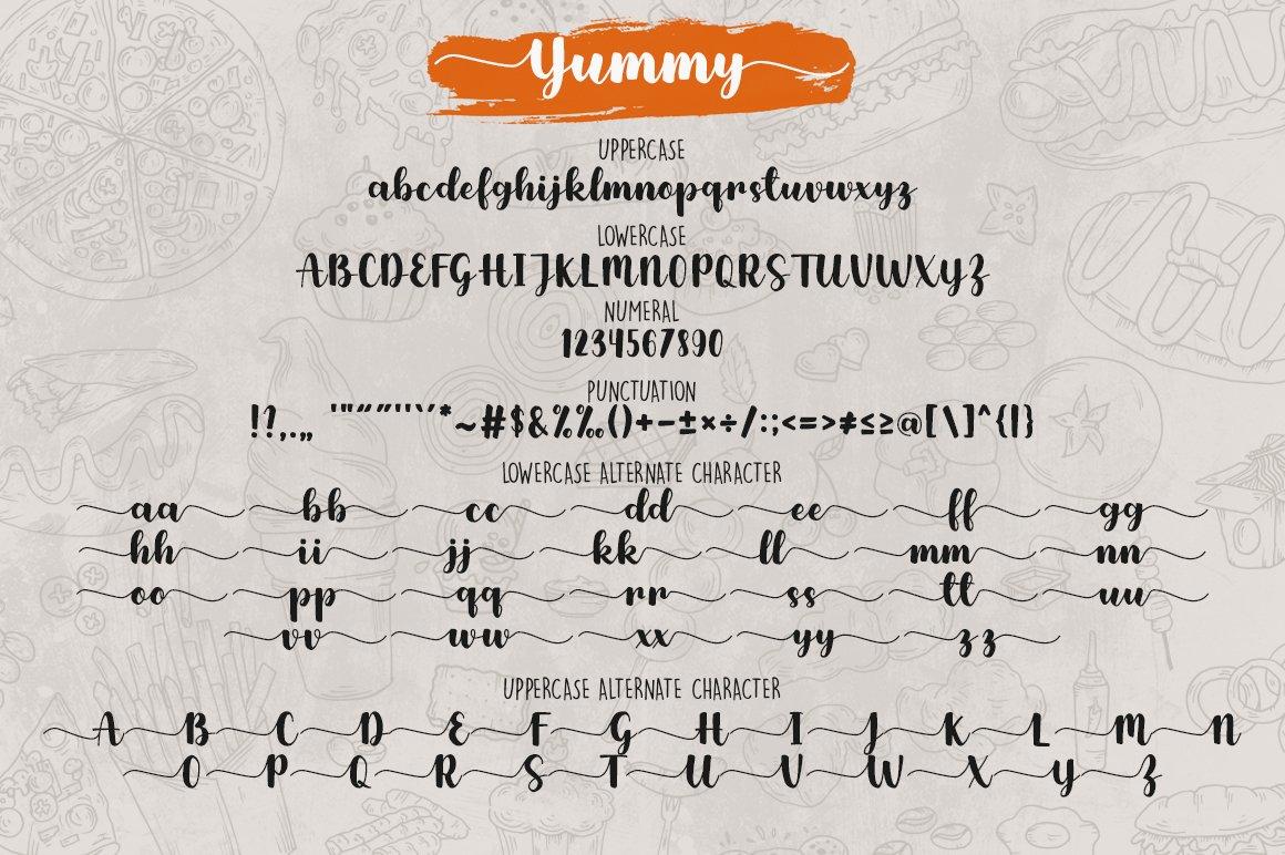 Yummy Brush Font example image 8