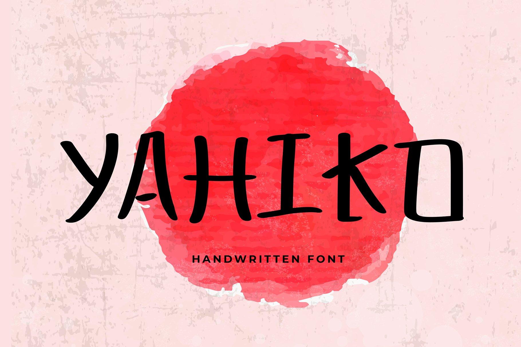 Yahiko Playful Handwritten Font example image 1