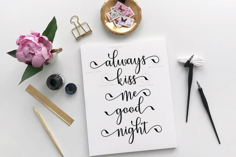 Melliste Script   A Font Love Story example image 6