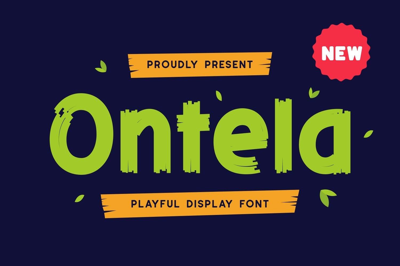 Ontela - Playful Display Font example image 1
