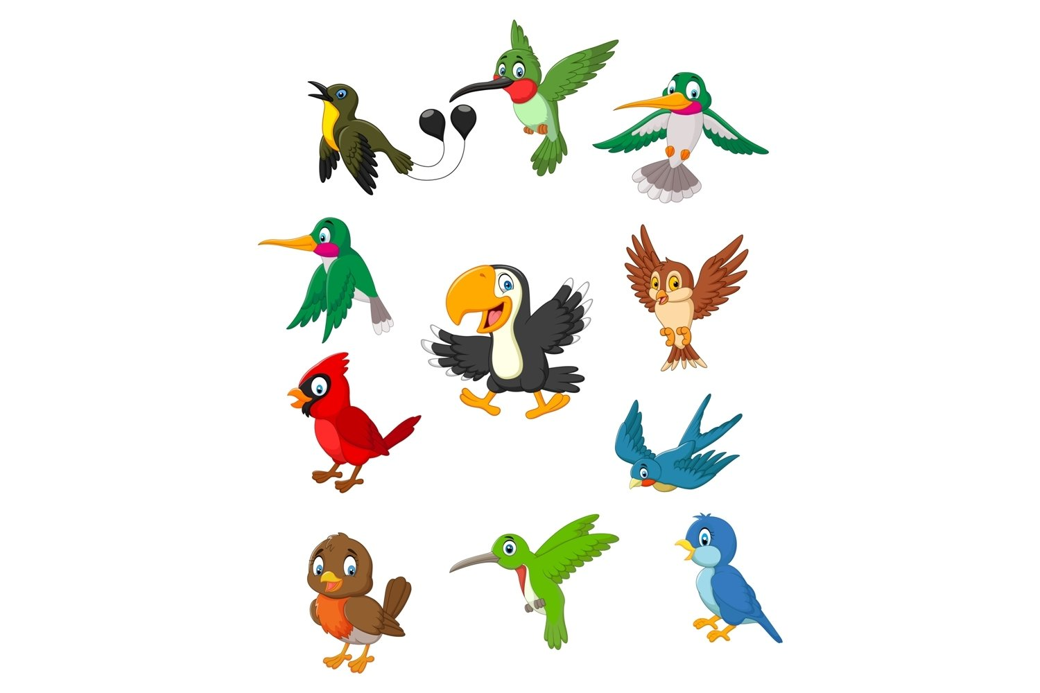 Birds Clipart Set Graphic example image 1