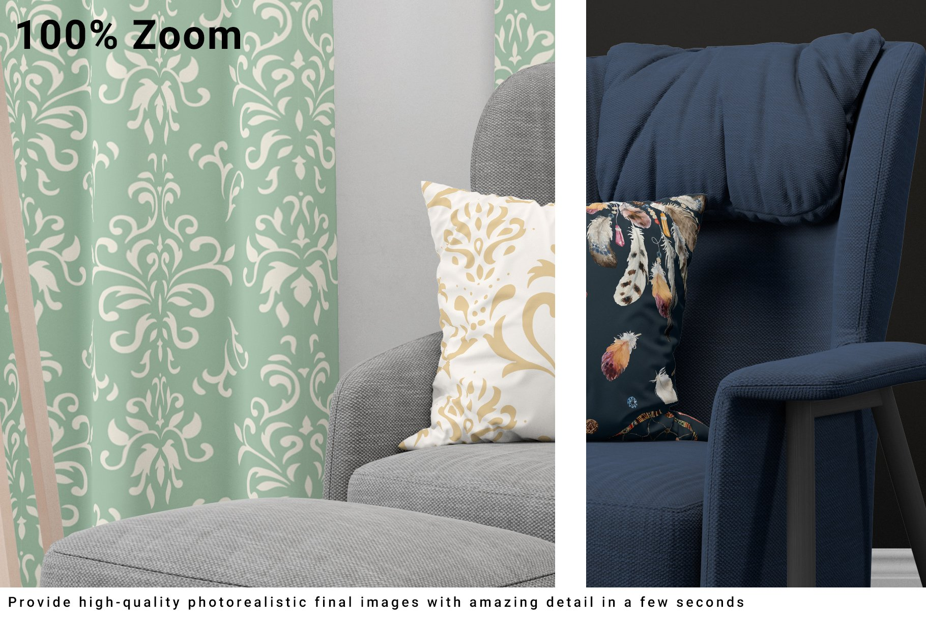 Curtains and Pillow Set example image 12