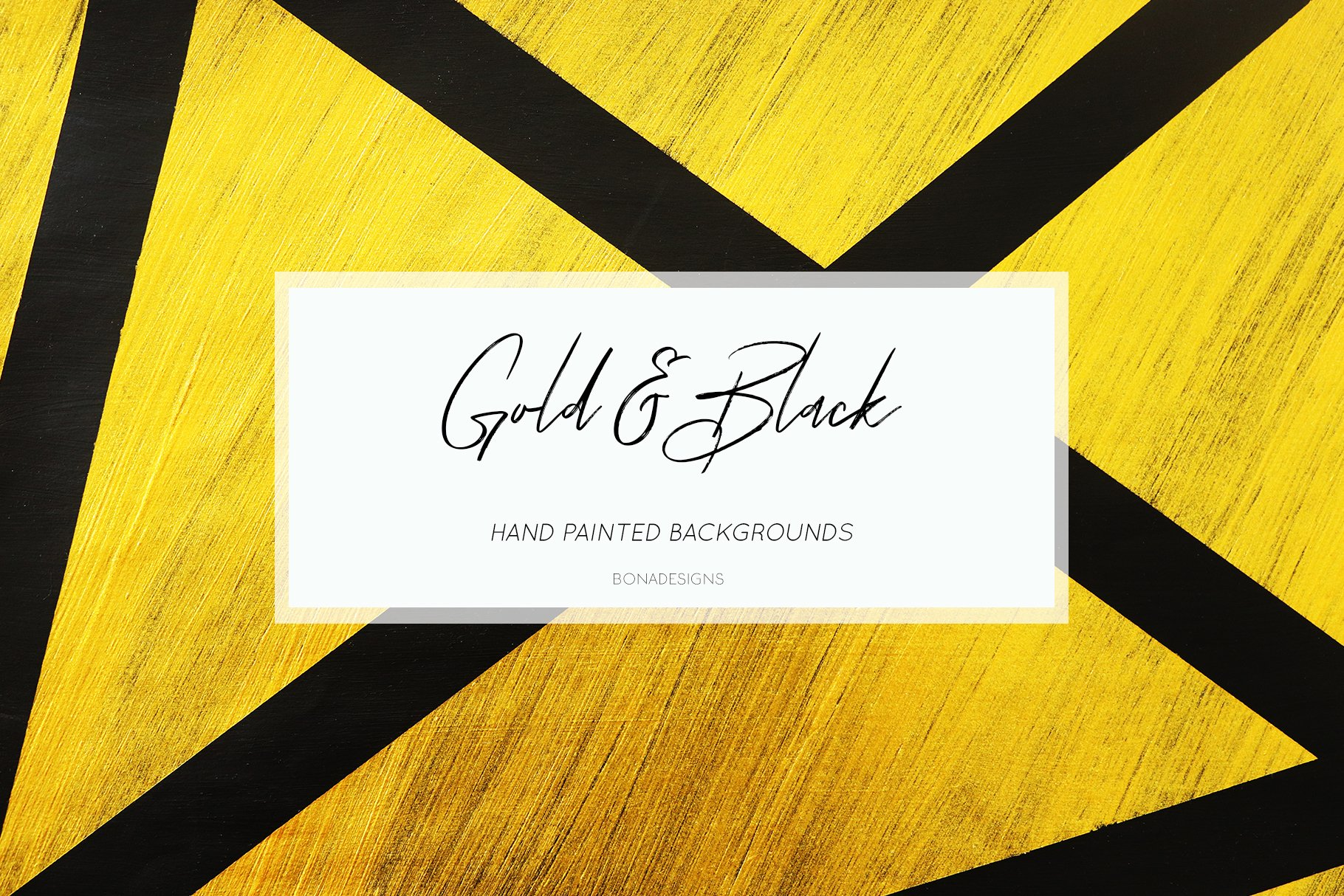 Gold Black Digital Papers Hand Painted Abstract Textures 291061 Backgrounds Design Bundles