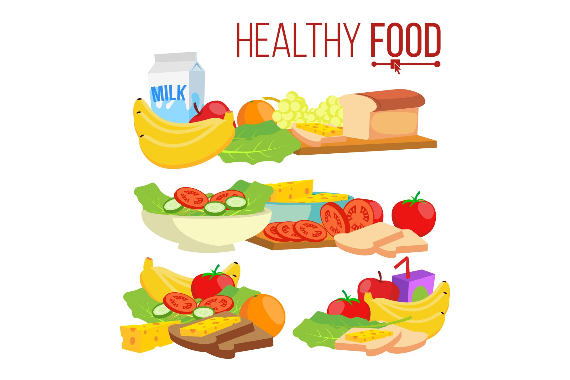 Healthy Food Vector. Help Health-Care. Healthy Eating example image 1