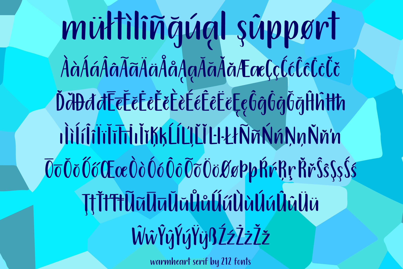 212 Warmheart Sans Serif Clean Handwritten OTF Font example image 6