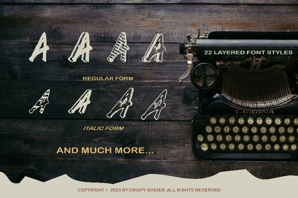 Kotoba Dua - 22 Font styles and 150 Swashes example image 3