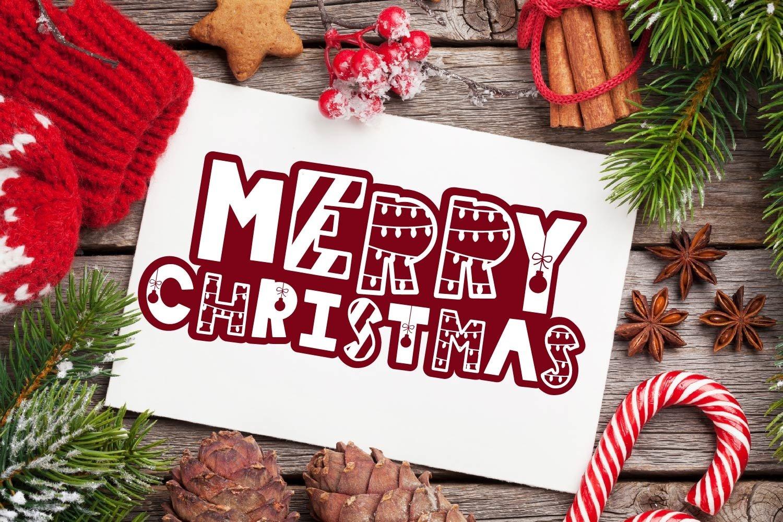 20 Christmas Fonts - A Christmas Font Bundle! example image 7