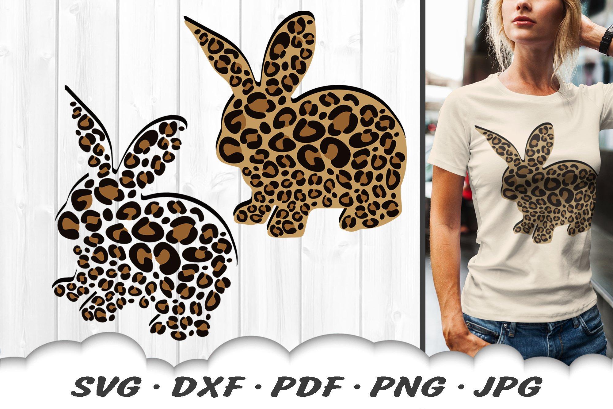 Leopard Print Easter Bunny Svg Dxf Cut Files 517184 Svgs Design Bundles