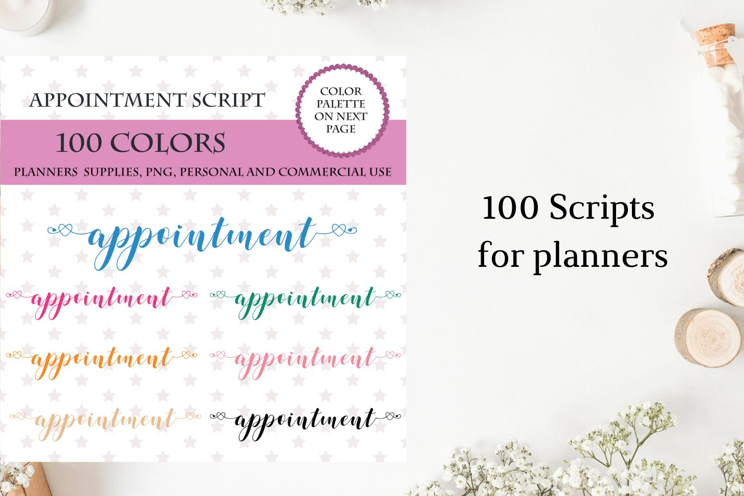100 Appointment font clipart, Appointment sticker clipart example image 1
