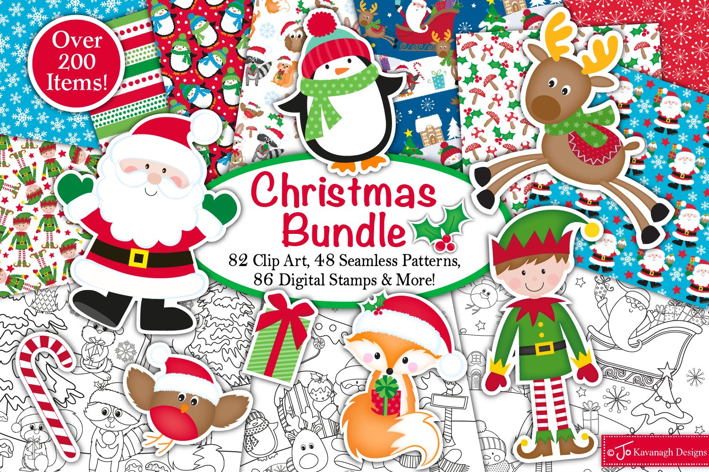 Christmas bundle, Christmas graphics and illustrations,santa