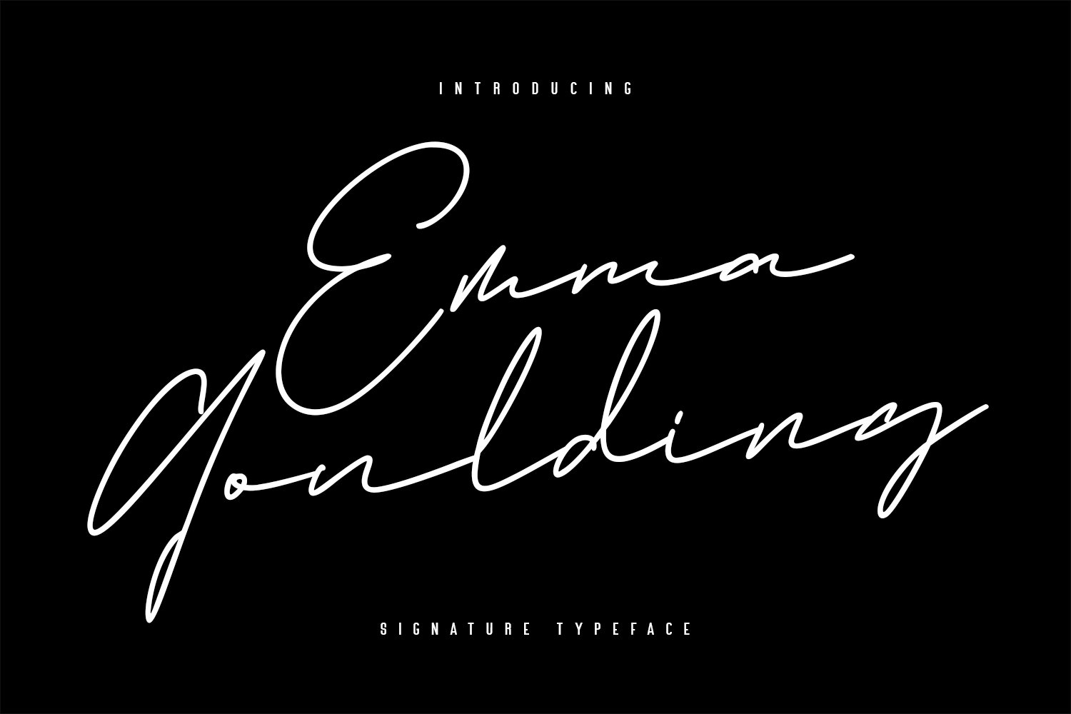 Emma Goulding Signature Collection Script Font example image 1