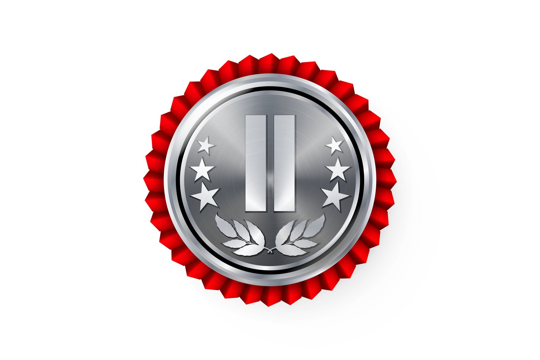 Silver 2st Place Rosette, Badge example image 1