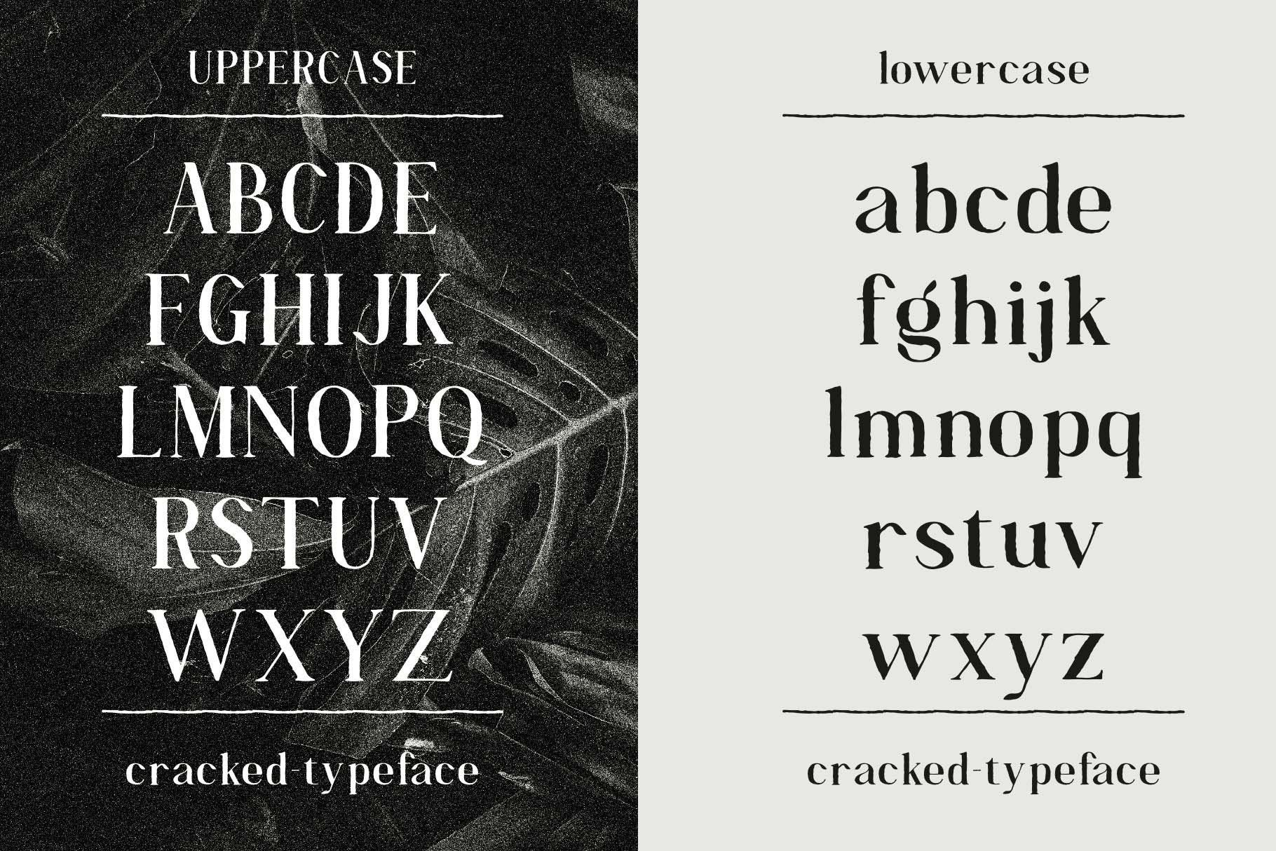 Cracked//A Handlettered Serif example image 4
