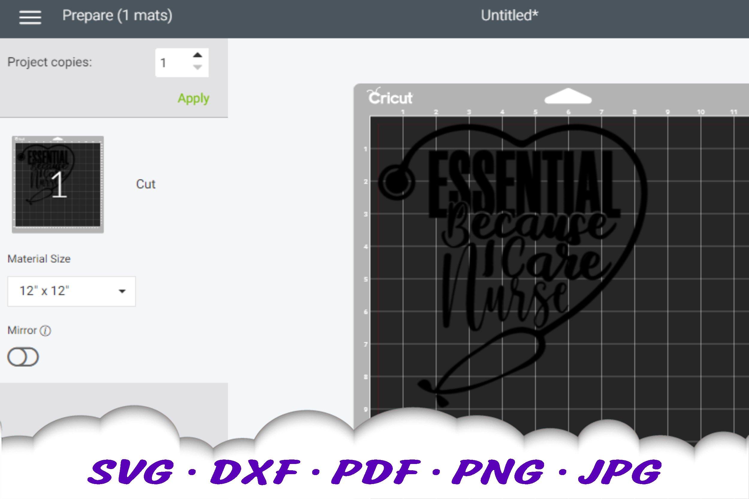 Essential Nurse Stethoscope SVG DXF Cut Files example image 2