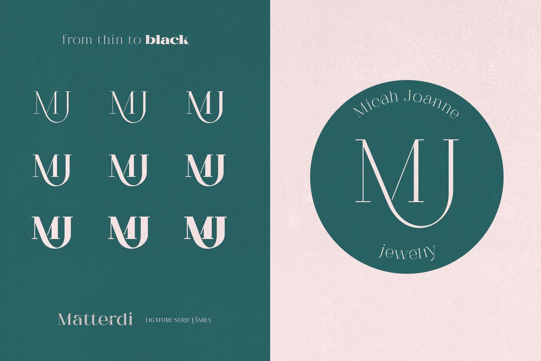 Matterdi | Hi-fashion ligature font example image 4