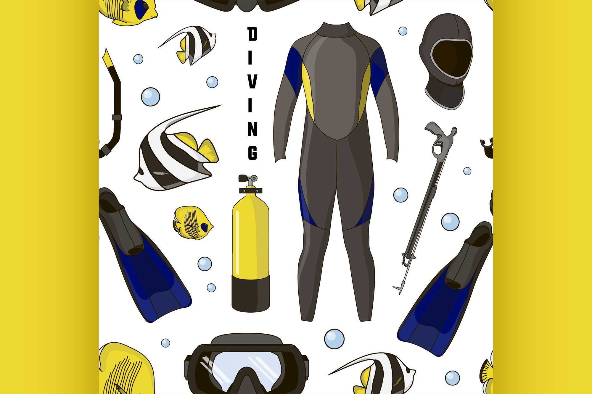 Diving equipment pattern example image 1
