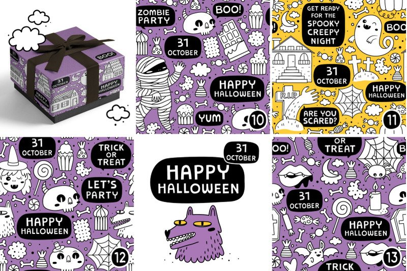 13 Halloween patterns example image 2