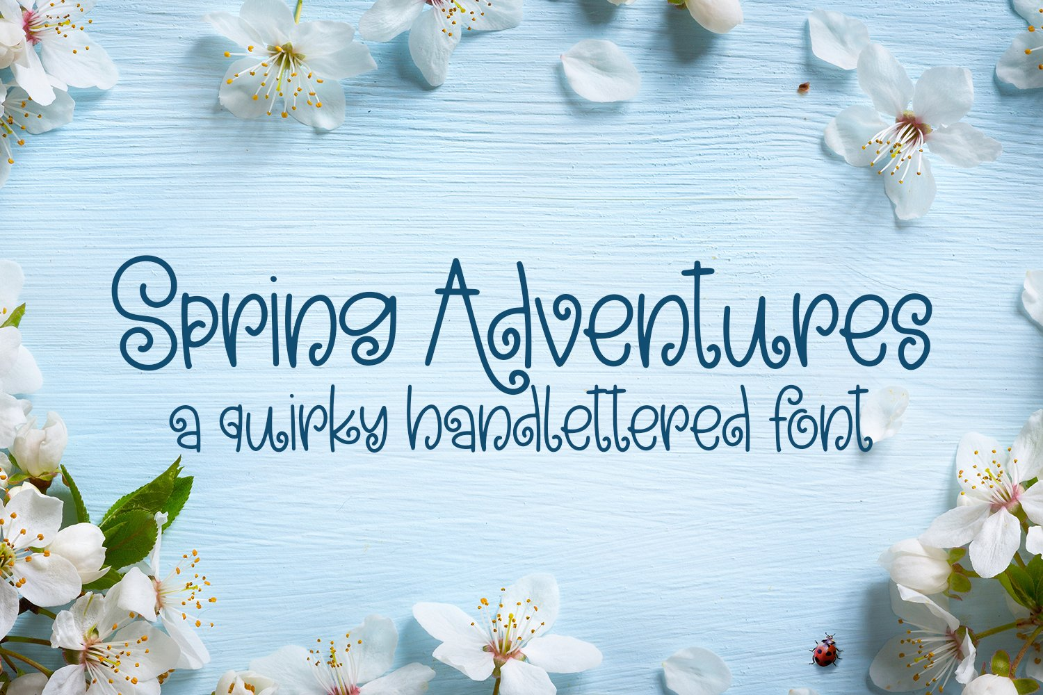 Spring Adventures - A Quirky Hand-Lettered Font example image 1