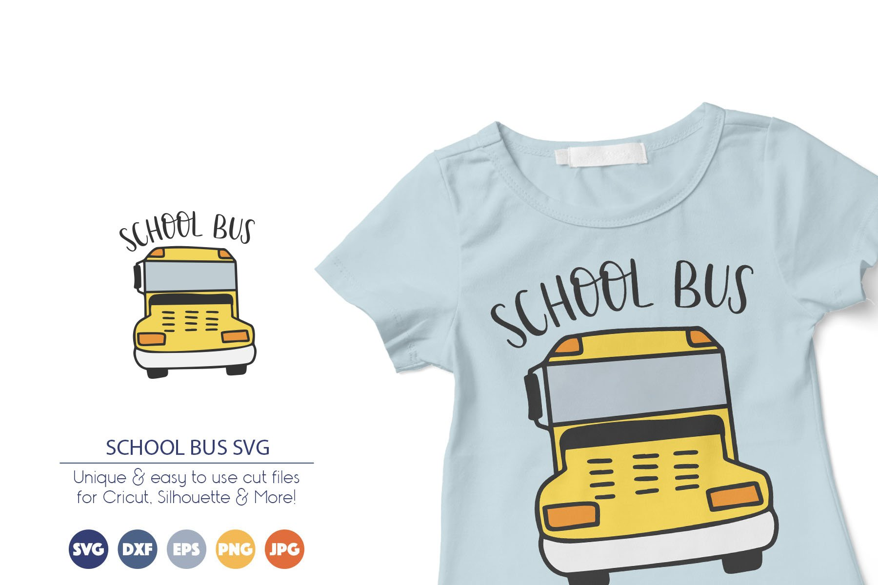 School Bus SVG | Back to School SVG Cut Files example image 1