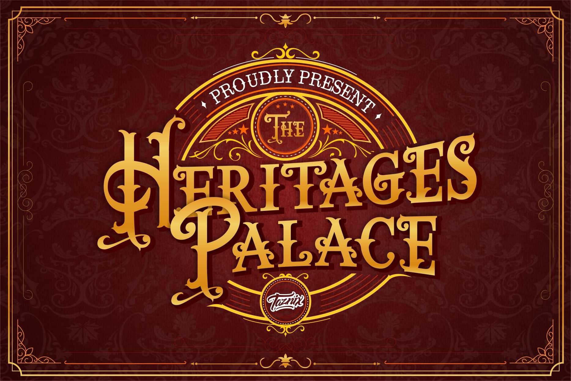 The heritages Palace Vintage Typeface example image 1