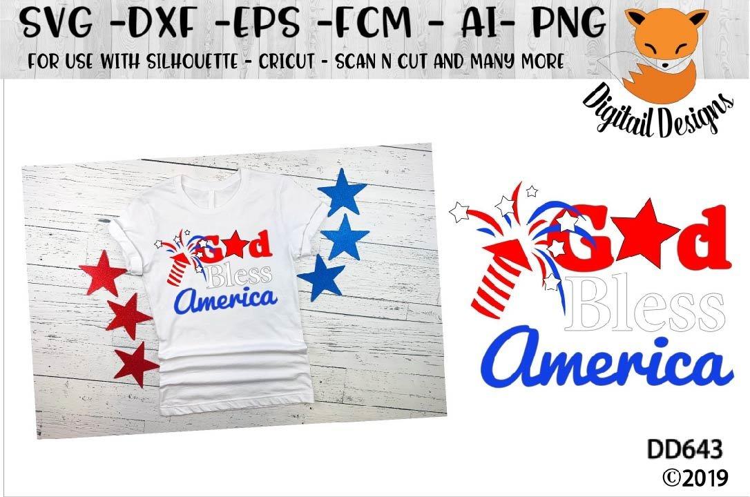 God Bless America Svg 88429 Cut Files Design Bundles