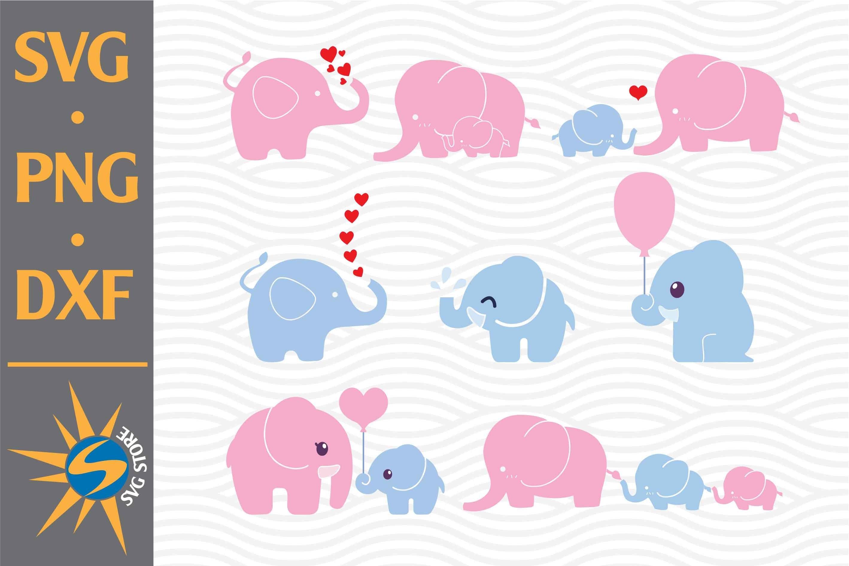 Cute Elephant Svg Png Dxf Digital Files Include 755260 Cut Files Design Bundles