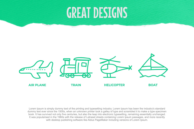 Child Transport Dingbats Font example image 2