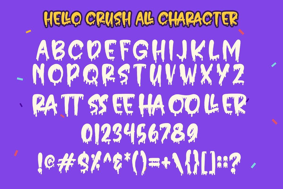 Hello Crush - Halloween Font example image 4