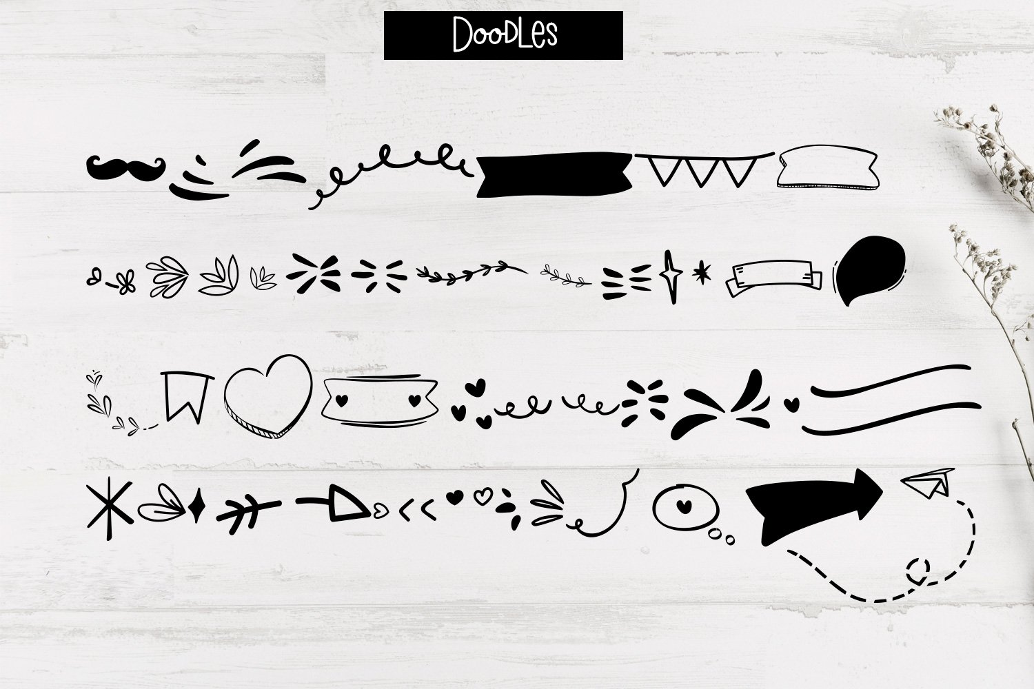 Walking Wind - A funky handwritten font duo with doodles example image 3
