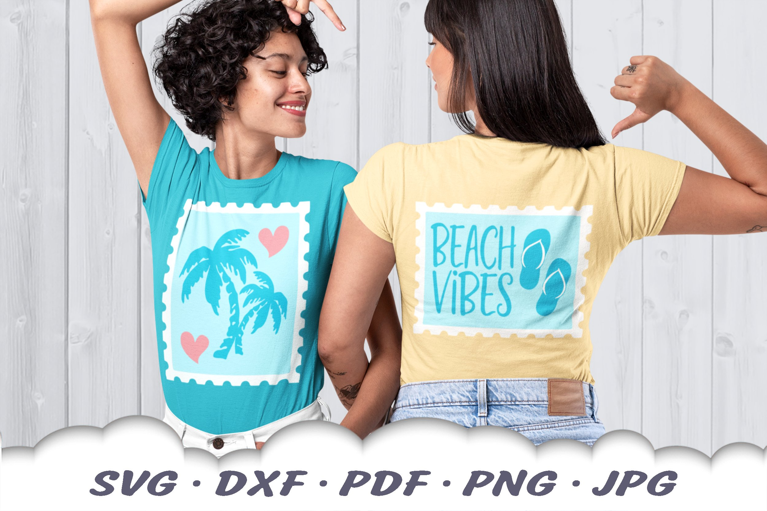 Beach Vibes Stamps SVG Bundle | Beach DXF Cut Files example image 3