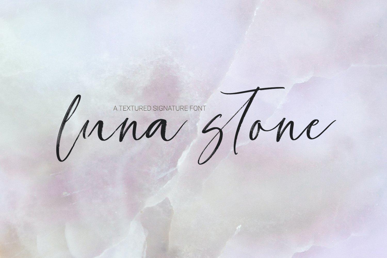 Luna Stone Signature font example image 1