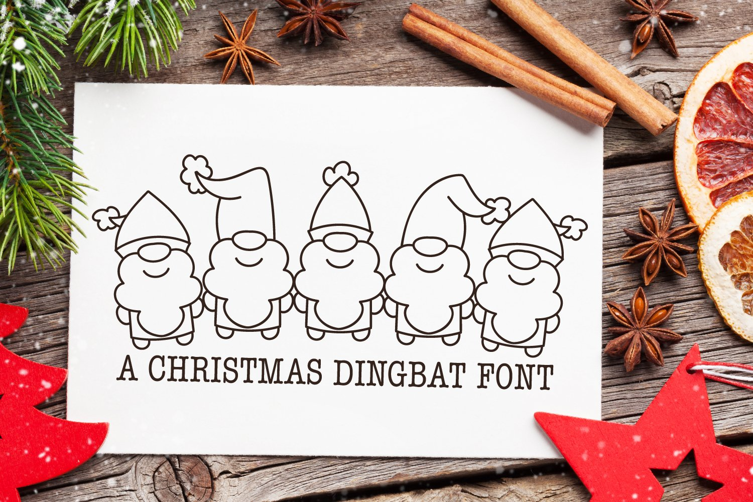 Christmas Dudes - A Christmas Dingbat Font example image 1