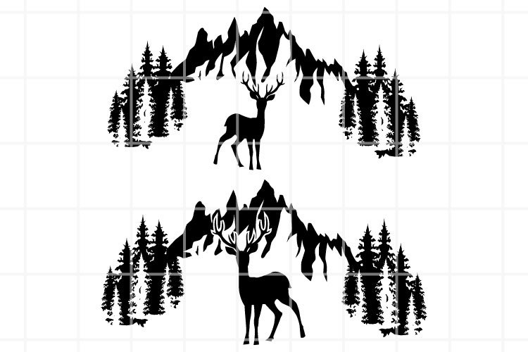 Wildlife Svg Deer And Forest Svg Hunting Season Cut File 1051076 Cut Files Design Bundles