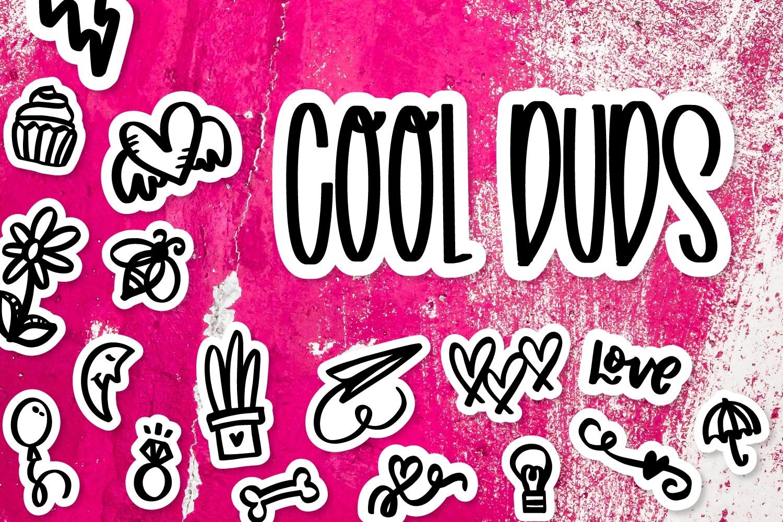 Cool Duds - A Fun Dingbat Font! example image 1