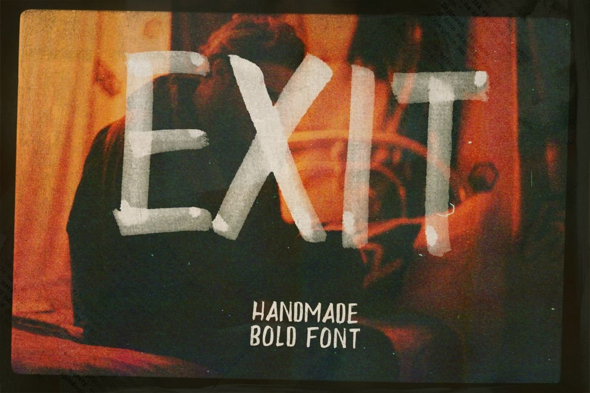 Exit Brush & SVG Font example image 3